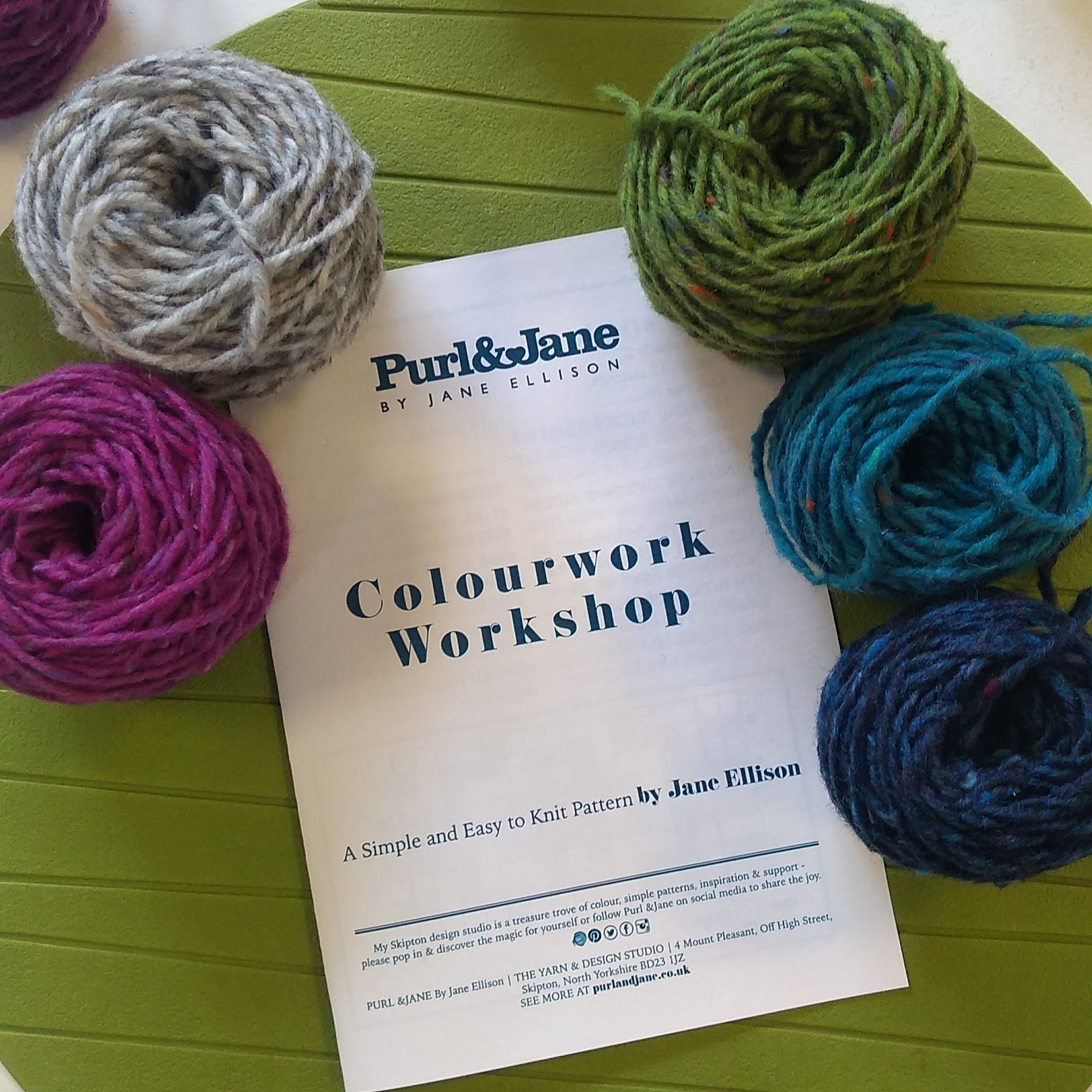 Purl &Jane Colourwork Workshop By Jane Ellison