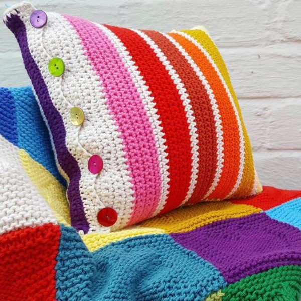 Oddments Crochet Cushion