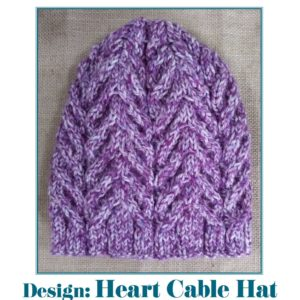 Heart Cable Hat Pattern