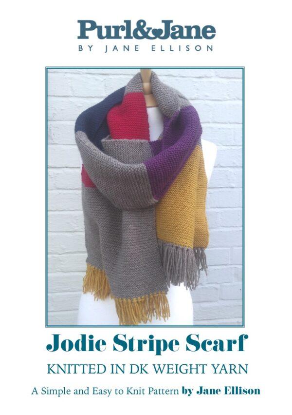 Jodie Stripe Scarf Pattern