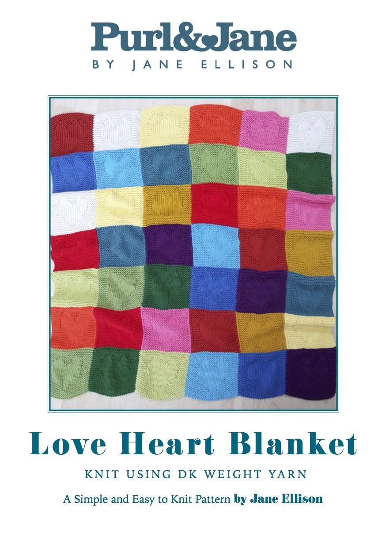 Love Hearts Blanket Pattern Blankets Purl Jane By Jane Ellison