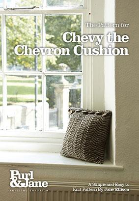 Chevy the Chevron Cushion Pattern