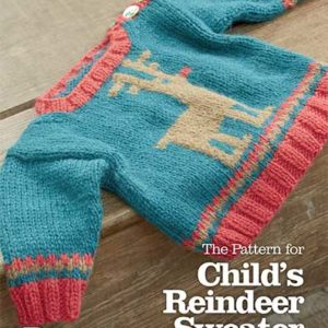 Child's Christmas Reindeer Sweater Pattern