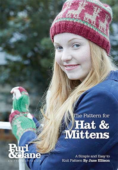 Christmas Hat & Mittens Pattern