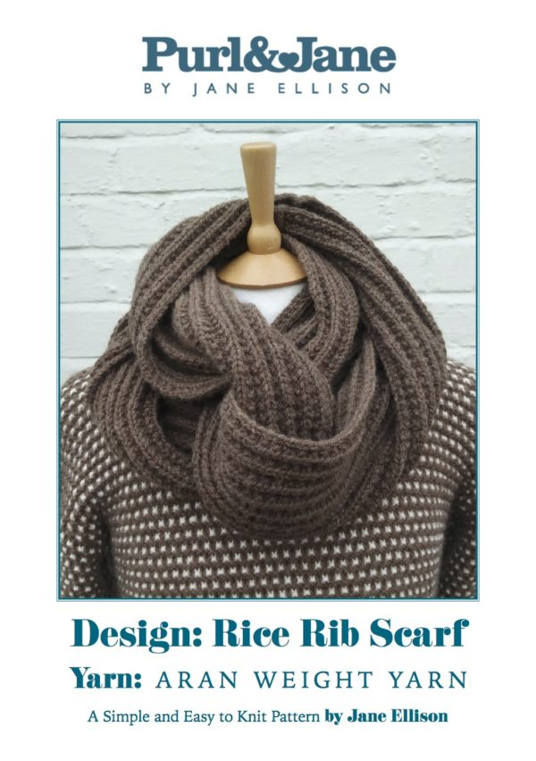 Rice Rib Scarf (or Cowl) Pattern